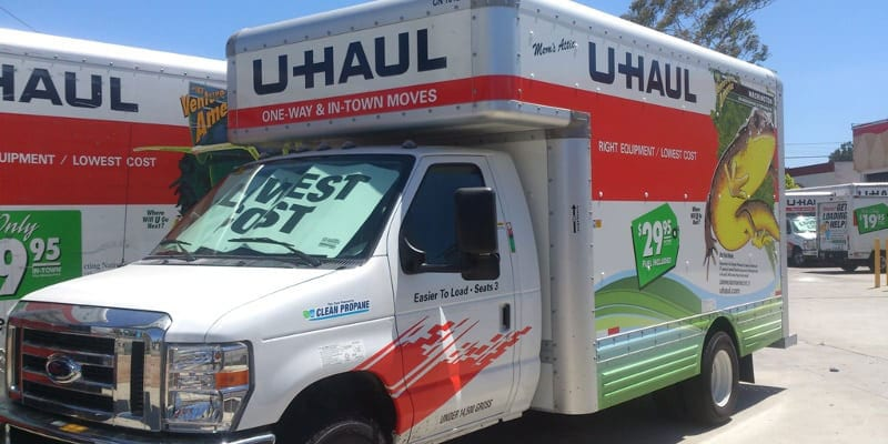 we also offer U-Haul truck rental options